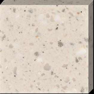 Темно-бежевый искусственный камень с полупрозрачными включениями